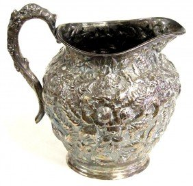 20B: HENNEGAN & BATES STERLING REPOUSSE PITCHER