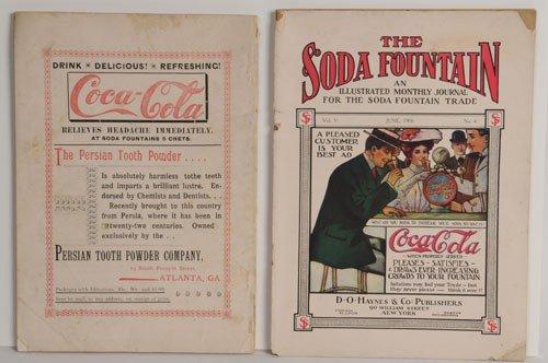 10: THE SODA FOUNTAIN & MOODY'S MAGAZINES - COKE ADVT.