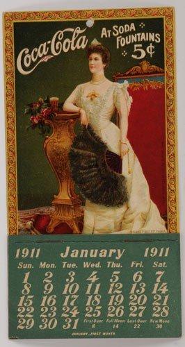 12: COMPLETE 1911 COCA-COLA CALENDAR