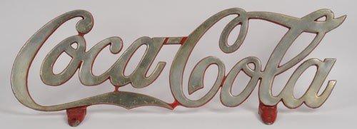 15: 1940'S COCA-COLA CAST ALUMINUM TRUCK CAB SIGN