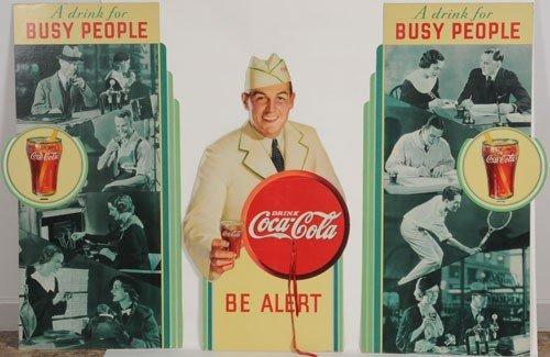 21: 1934 COCA-COLA 3-PIECE BUSY PEOPLE DISPLAY