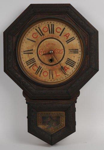 22: COCA-COLA 1901 WELCH OCTAGONAL CLOCK