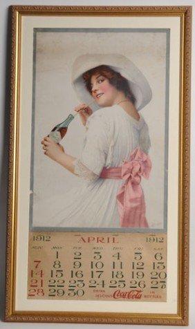 1912 LARGE FORMAT COCA-COLA BOTTLERS CALENDAR