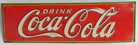 1932 COCA-COLA EMBOSSED TIN SIGN