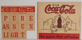 COCA-COLA KRISS-KROSS PUZZLE & CHILD'S WRITING BOOK