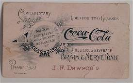66 1890S COCACOLA COUPON