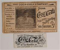 67 COCACOLA EARLY COUPON ENVELOPE  COUPON