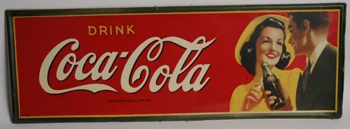 83: 1942 COCA-COLA TIN SIGN