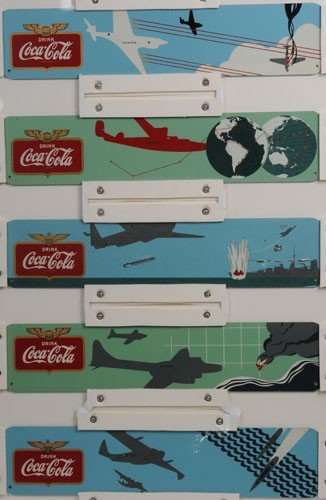 88: COCA-COLA KAY DISPLAYS WAR PLANES FESTOON