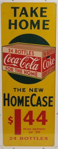 89: CIRCA 1945 MASONITE COCA-COLA SIGN