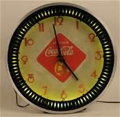 92: CIRCA 1939 COCA-COLA NEON CLOCK