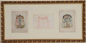 PAIR OF 1890 COCA-COLA TRADE CARDS