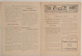 1896 COCA-COLA NEWS