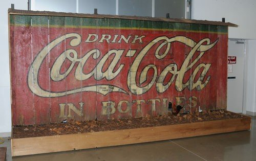 153: RARE AND SCARCE COCA-COLA PAINTED BARN SIDE