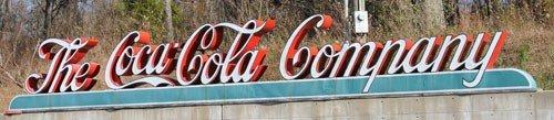 "154: ""THE COCA-COLA COMPANY"" OUTDOOR SIGN"