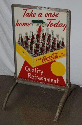 155: 1950'S COCA-COLA SIDEWALK SIGN AND FRAME