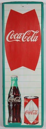 159: 1960'S COCA-COLA TIN SIGN