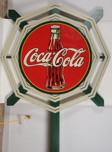 166: COCA-COLA LARGE CIRCLE AND LATTICE SIGN
