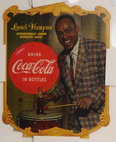 402: 1953 COCA-COLA CARDBOARD CUT-OUT EASEL-BACK SIGN