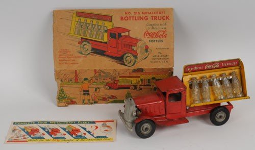 415: 1933 METALCRAFT COCA-COLA TOY TRUCK and BOX