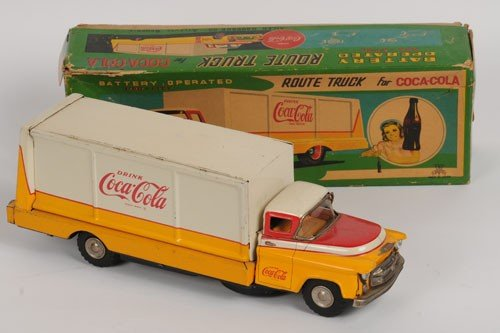 416: 1950'S COCA-COLA BATTERY OPERATED TOY TRUCK