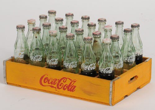 422: 1950'S TO 60'S COCA-COLA MINIATURE CASE AND BOTTLE