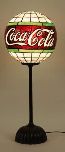 500: LEADED GLASS COCA-COLA GLOBE