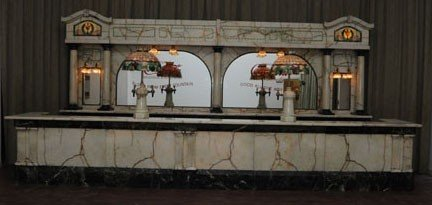 540: STUNNING MARBLE & ALABASTER SODA FOUNTAIN