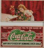 660 2 EARLY COCACOLA COUPONS