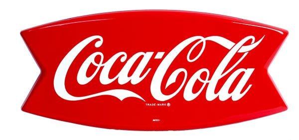 4: 1962 COCA-COLA DIE-CUT TIN SIGN