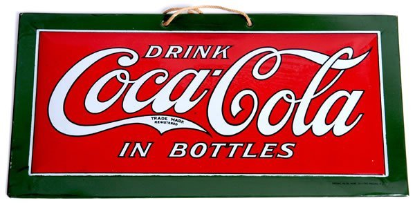 13: 1920'S COCA-COLA SMALL TIN SIGN