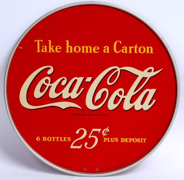 18: CIRCA 1940 COCA-COLA TWO SIDED RACK SIGN