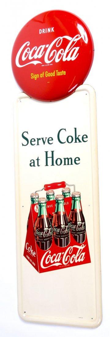 19: 1948 PILASTER & BUTTON TIN COKE SIGNS
