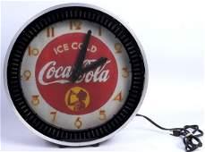 95: CIRCA 1940 COCA-COLA NEON SPINNER CLOCK