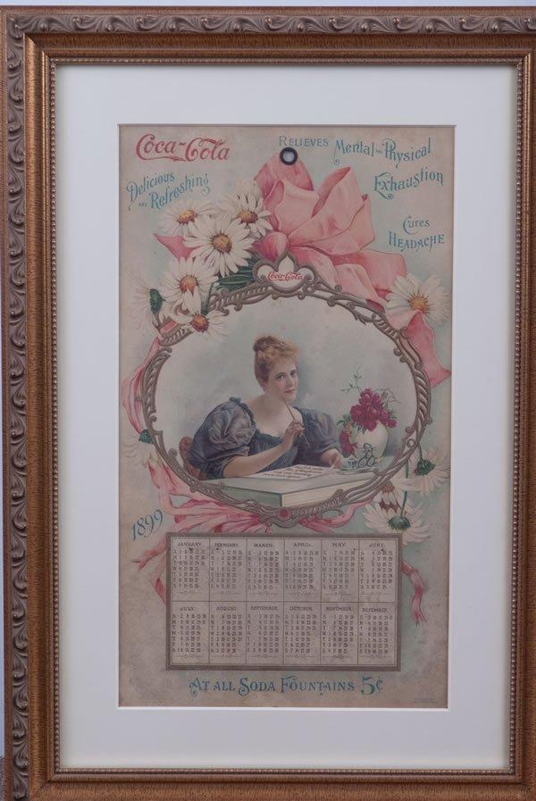 216: 1899 COCA-COLA CALENDAR