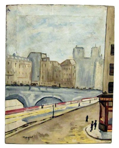 82: MARQUET CITYSCAPE PAINTING