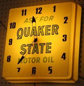 13: QUAKER STATE LIGHTED CLOCK