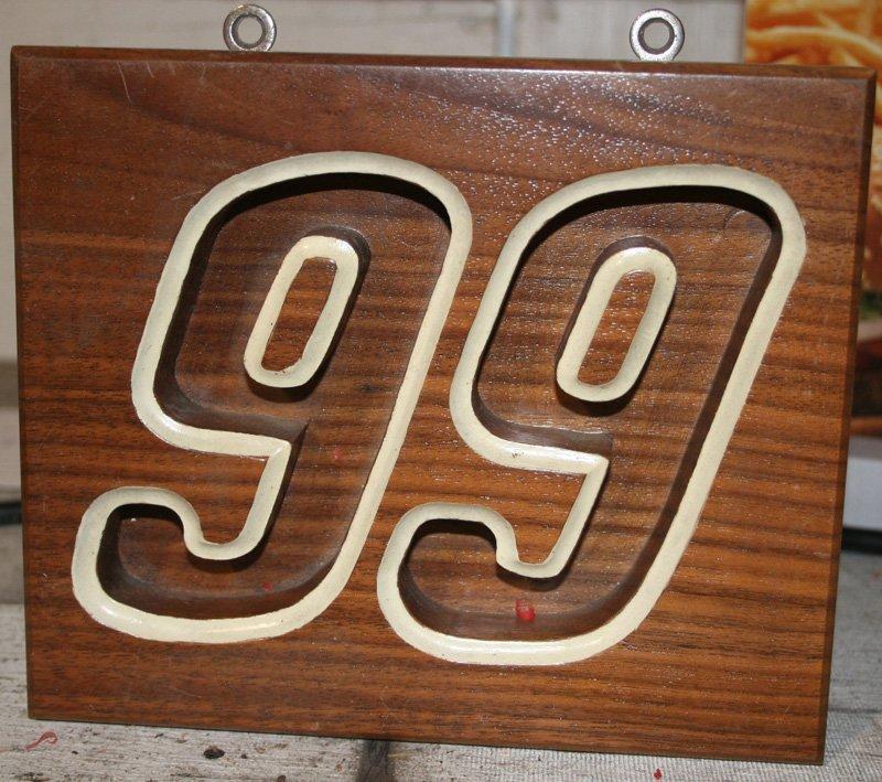 17: (3) NASCAR PLAQUES