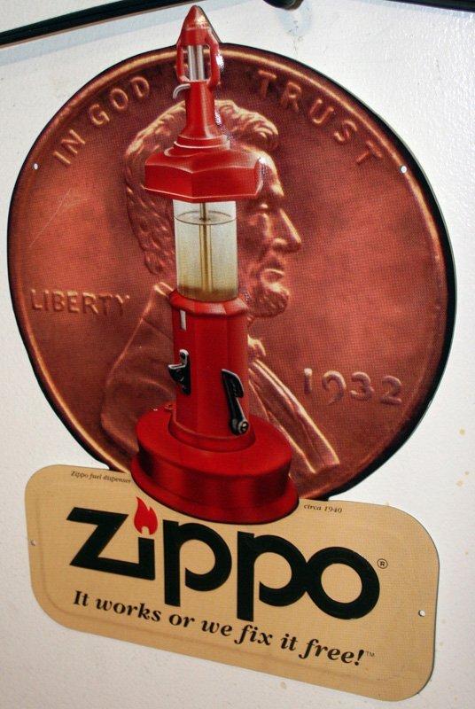18: YELLOW CAB CIGAR & ZIPPO TIN SIGNS - 2