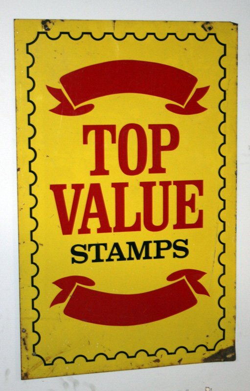95: TOP VALUE STAMPS SIGN