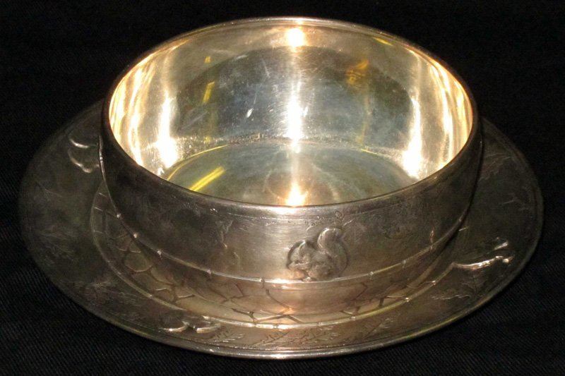 TIFFANY STERLING CHILD'S BOWL & UNDERPLATE