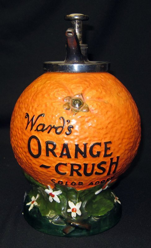 WARD'S ORANGE CRUSH FIGURAL DISPENSER