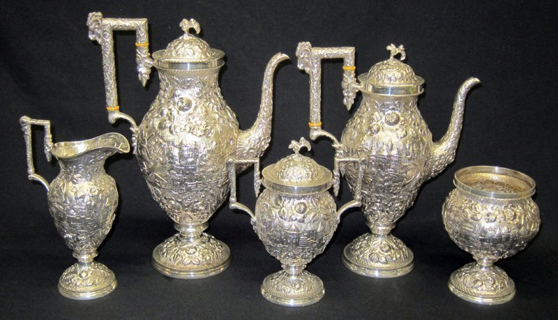 BALTIMORE STERLING CASTLE PATTERN TEA & COFFEE SERVICE