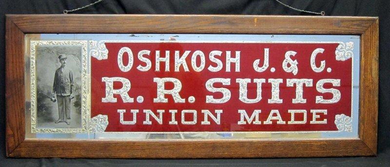 OSH KOSH RAILROAD SUITS REVERSE SIGN