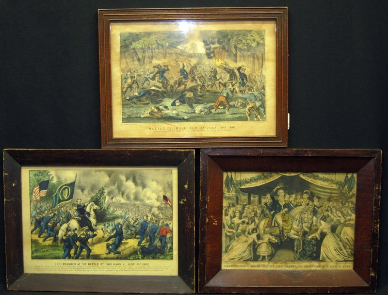 CURRIER & IVES, ETC. LITHOGRAPHS (5)