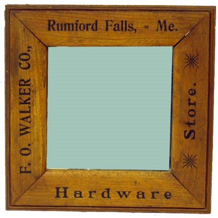 1: F.O. WALKER HARDWARE STORE MIRROR