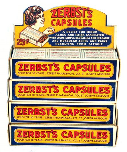 20: ZERBST'S CAPSULES STORE STOCK