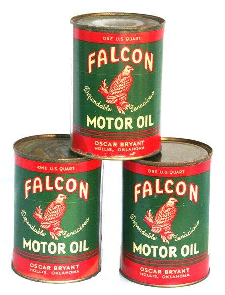21: FALCON MOTOR OIL CASE LOT