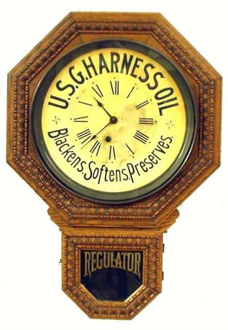 254: U.S.G. HARNESS OIL REGULATOR CLOCK