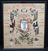 ALLIED FORCES NEEDLEWORK MATTED PHOTOGRAPH